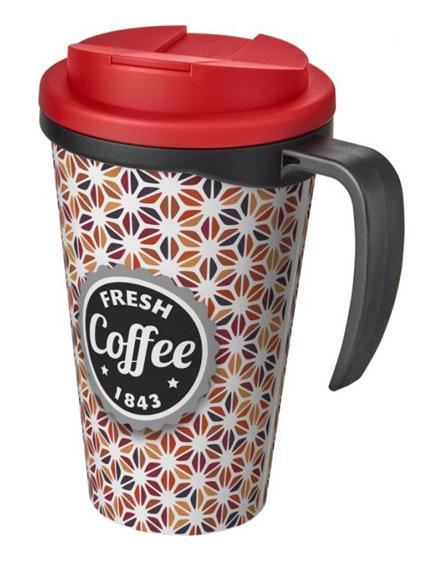 americano reusable mugs handle spill proof lids colour