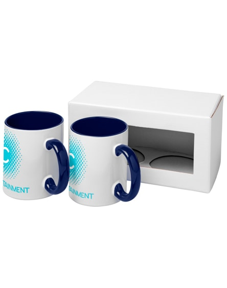 branded ceramic sublimation mug 2-pieces gift set