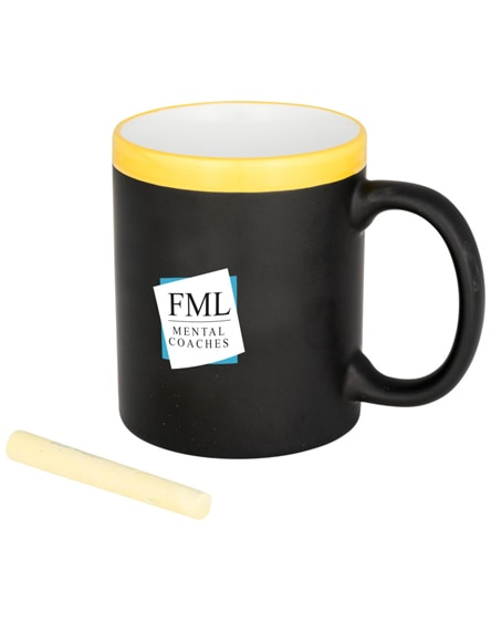 branded chalk-write ceramic mug