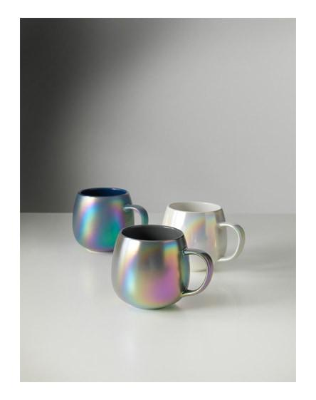 branded glitz iridescent ceramic mug