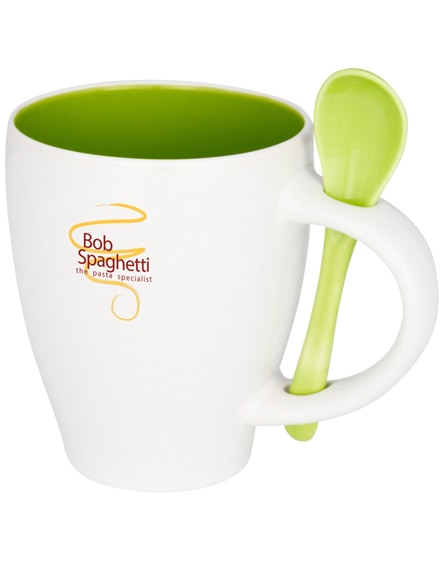 branded nadu ceramic mug with spoon