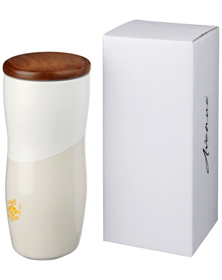 branded reno double-walled ceramic tumbler