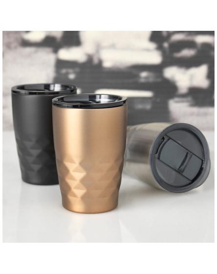 branded geo copper vacuum insulated tumbler