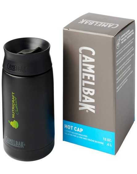 branded hot cap copper vacuum insulated tumbler