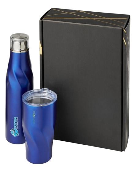 branded hugo copper vacuum insulated gift set