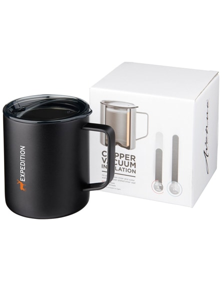 branded rover copper vacuum insulated mug