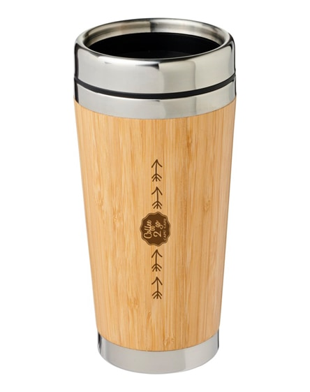 branded bambus tumbler with bamboo outer