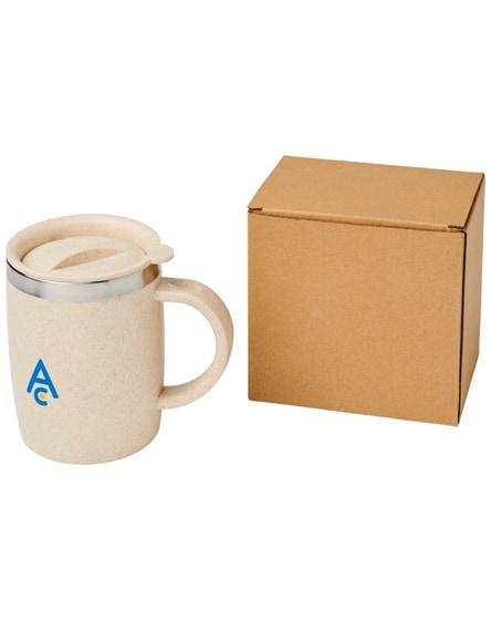 branded wey wheat straw insulated mug