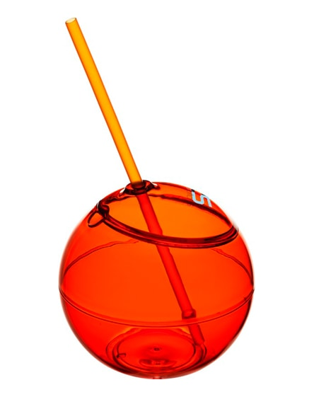 branded fiesta beverage ball with straw