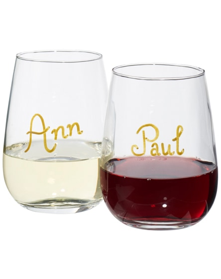branded barola wine glass writing set