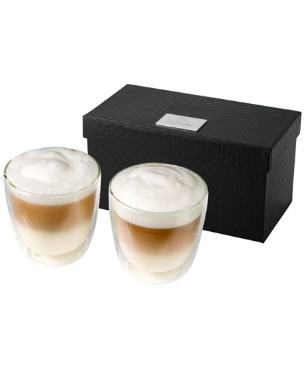 branded boda 2-piece glass coffee cup set