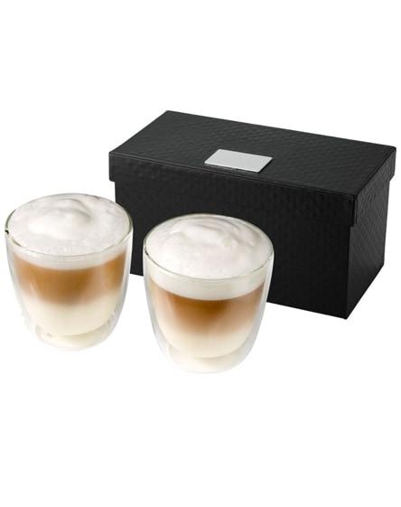 branded boda 2-piece glass coffee cup set