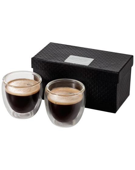 branded boda 2-piece glass espresso cup set