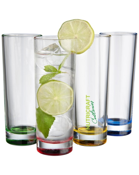 branded rocco 4-piece glass set