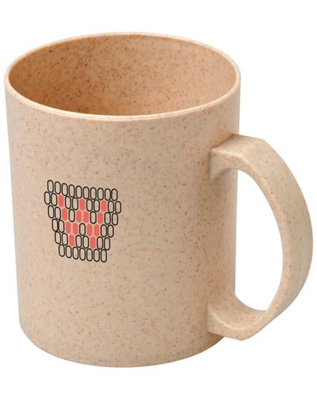 branded pecos wheat straw mug
