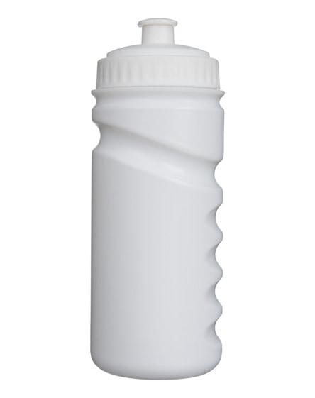 branded easy-squeezy white sport bottle