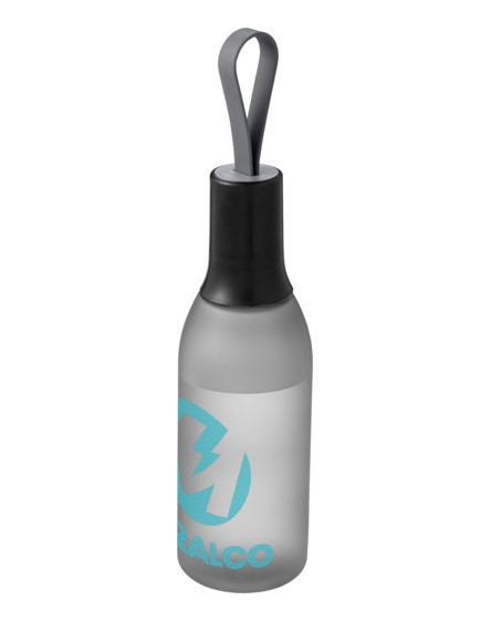 branded flow sport bottle with carrying strap