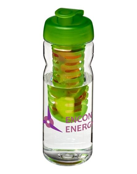 branded h2o base tritan flip lid bottle & infuser