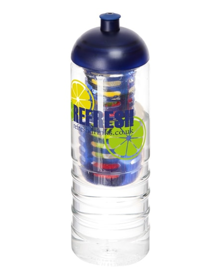 branded h2o treble dome lid bottle & infuser