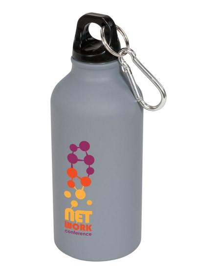 branded oregon matte sport bottle with carabiner