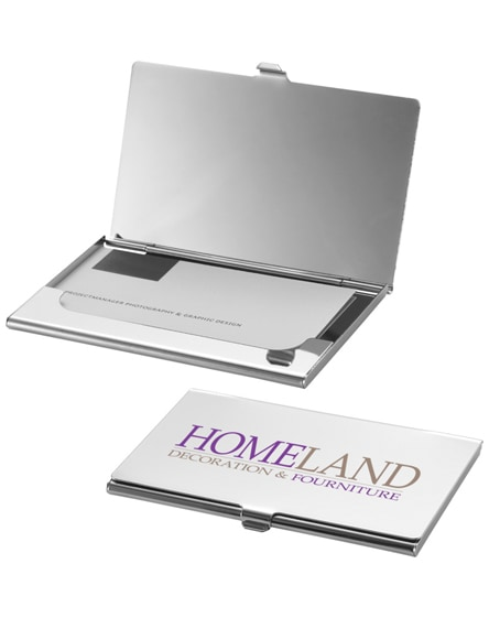 branded new york business card holder with mirror
