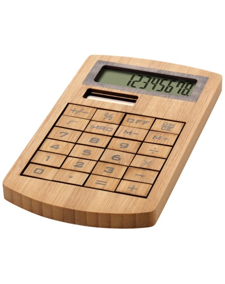 branded eugene calculator made of bamboo