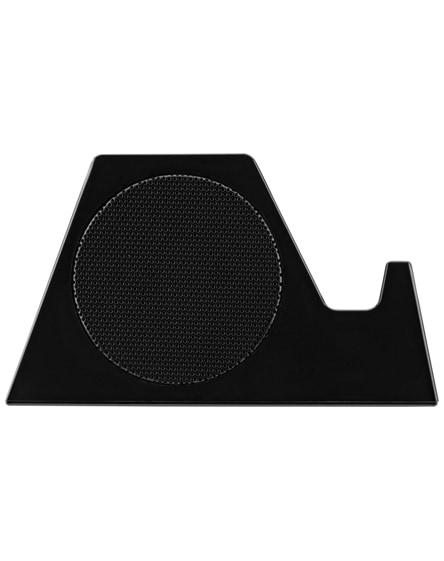 branded blare bluetooth speaker and speaker stand