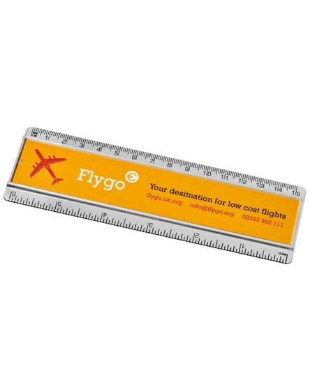 branded ellison 15 cm plastic ruler with paper insert