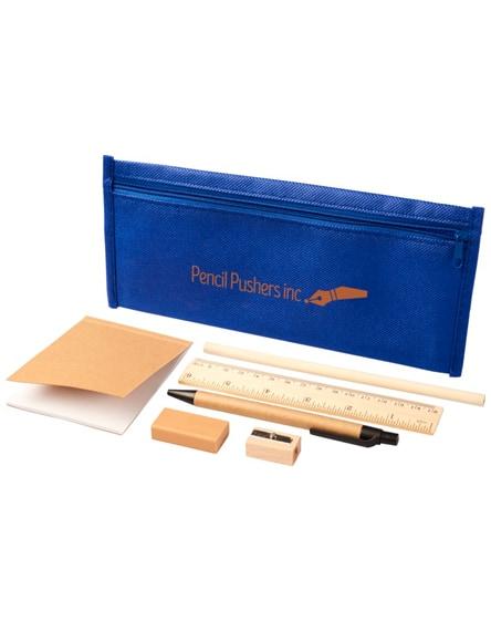 branded enviro 7-piece eco pencil case set