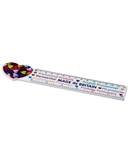 branded loki 15 cm heart-shaped plastic ruler