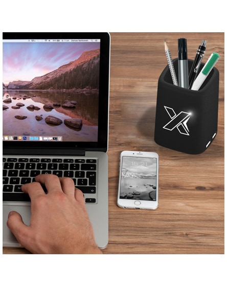 branded scx.design o10 light-up pencil box charger