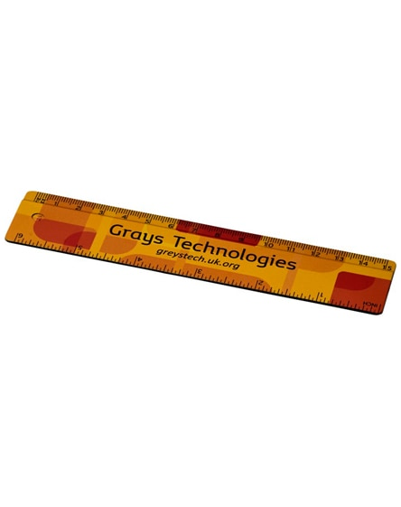 branded terran 15 cm ruler from 100% recycled plastic