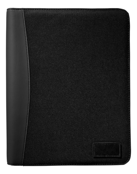 branded cardiff deluxe a4 zippered portfolio