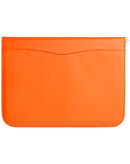 branded ebony a4 zippered portfolio