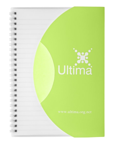 branded curve a6 notebook