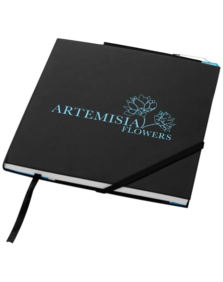branded delta hard cover notebook