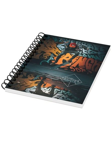 branded desk-mate a6 notebook synthetic cover