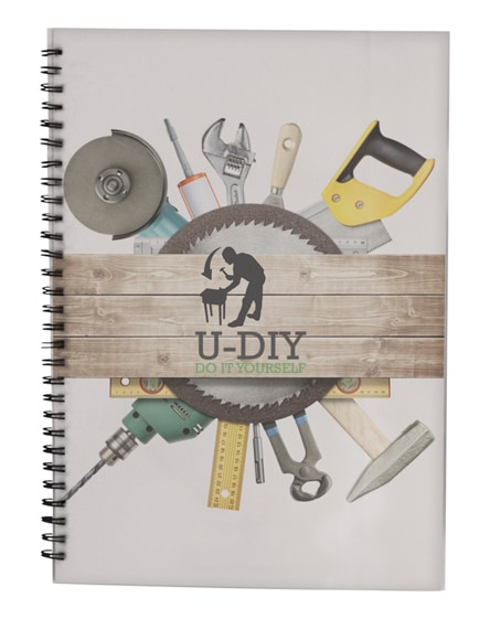 branded desk-mate wire-o a4 notebook pp cover