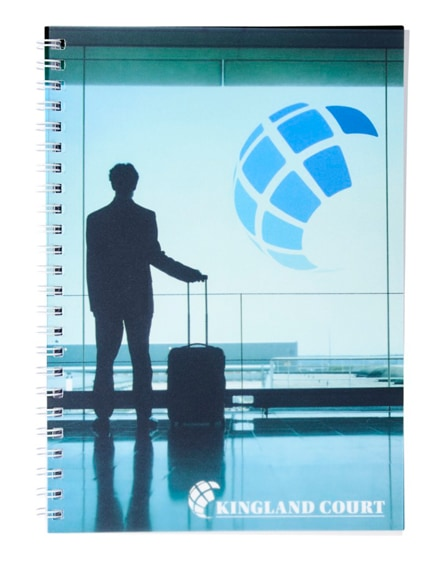 branded desk-mate wire-o a5 notebook pp cover