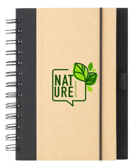 branded evolution recycled notebook