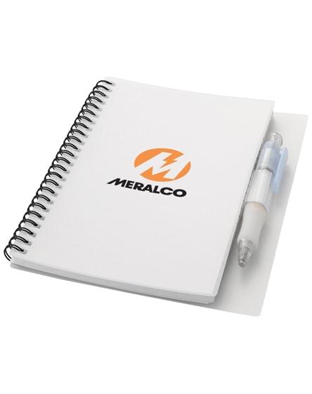 branded hyatt notebook with pen