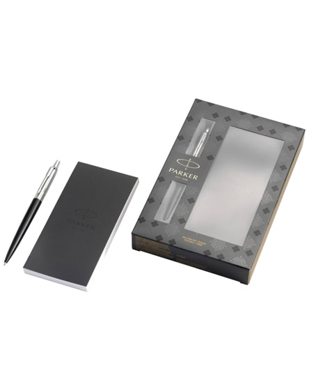 branded jotter bond street gift set with pen and notepad