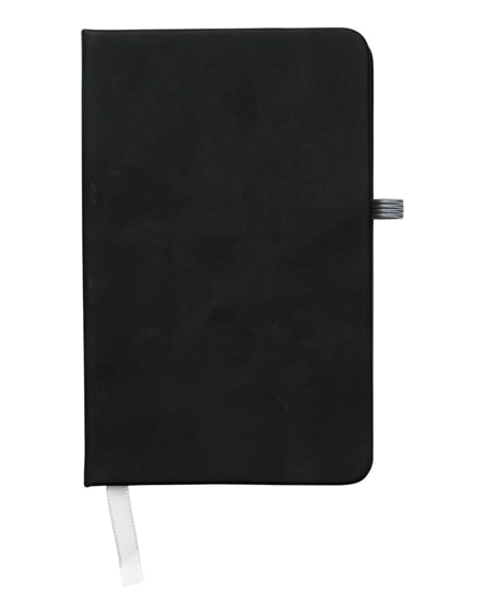 branded noir a6 notebook with lined pages