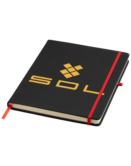 branded noir large notebook with lined pages