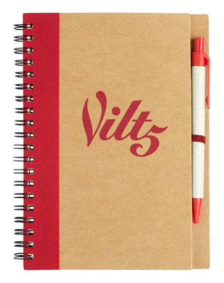 branded priestly recycled notebook with pen