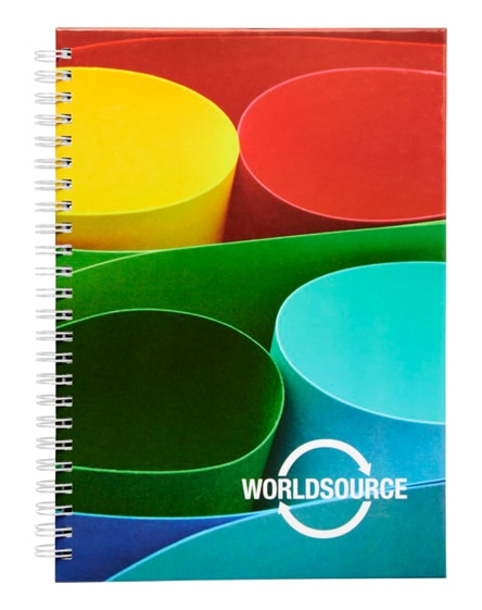 branded wire-o a5 notebook hard cover