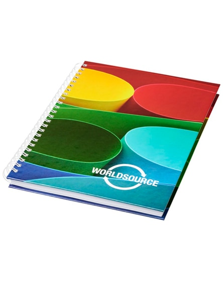 branded wire-o a6 notebook hard cover