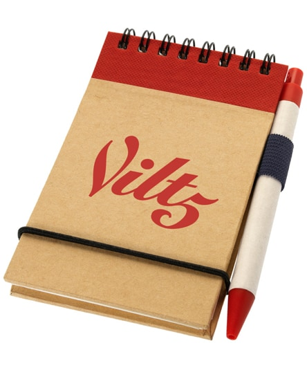 branded zuse a7 recycled jotter notepad with pen