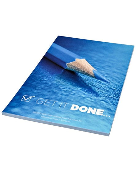 branded desk-mate a5 notepad wrap over cover