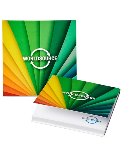branded sticky-mate soft cover squared sticky notes 75x75